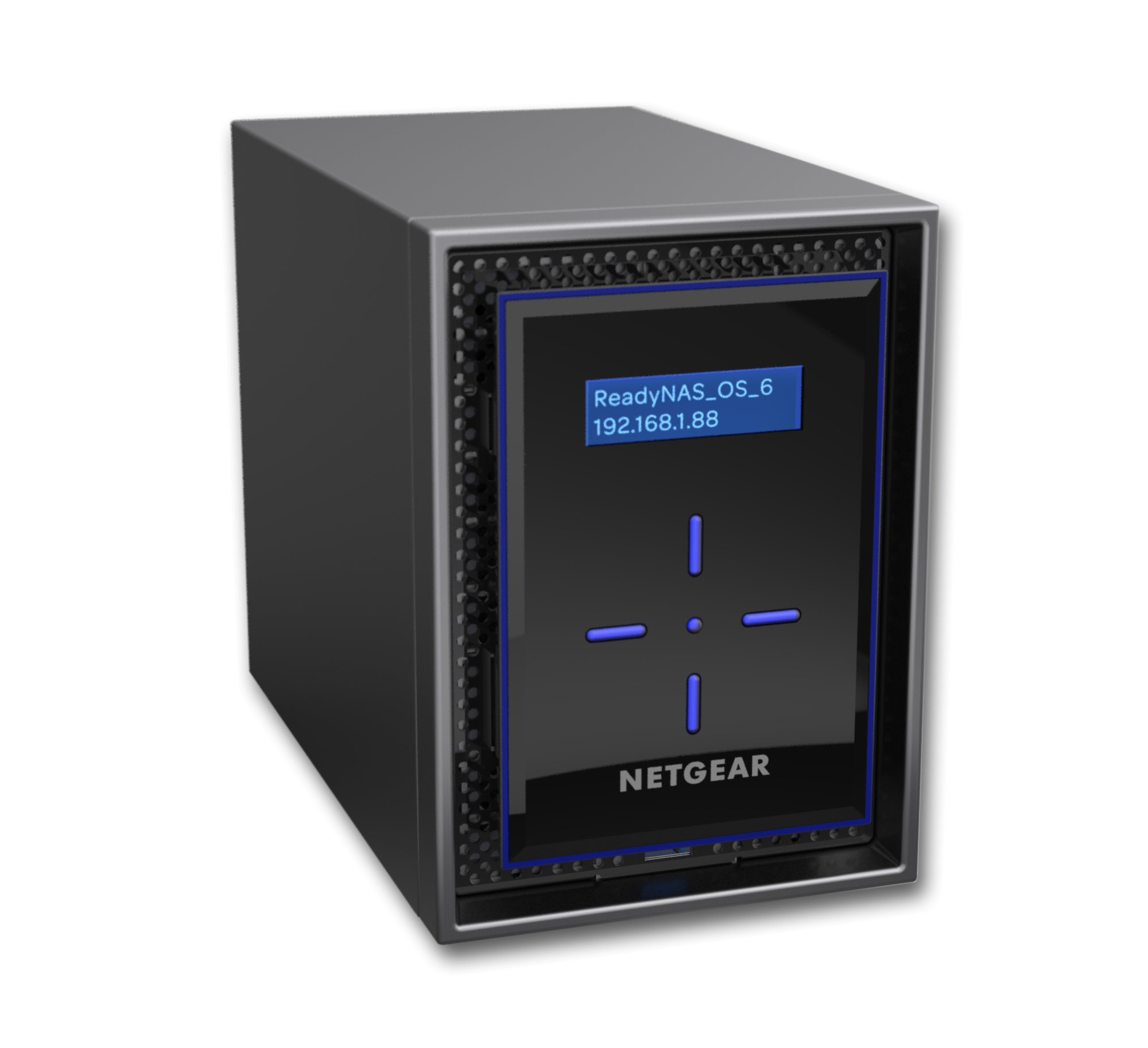 NETGEAR ReadyNAS RN422 2 Bay Diskless High Performance NAS, 20TB Capacity Network Attached Storage, Intel 1.5GHz Dual Core Processor, 2GB RAM, (RN42200) by NETGEAR