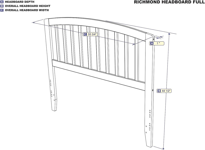 Full Espresso Atlantic Furniture Richmond Headboard