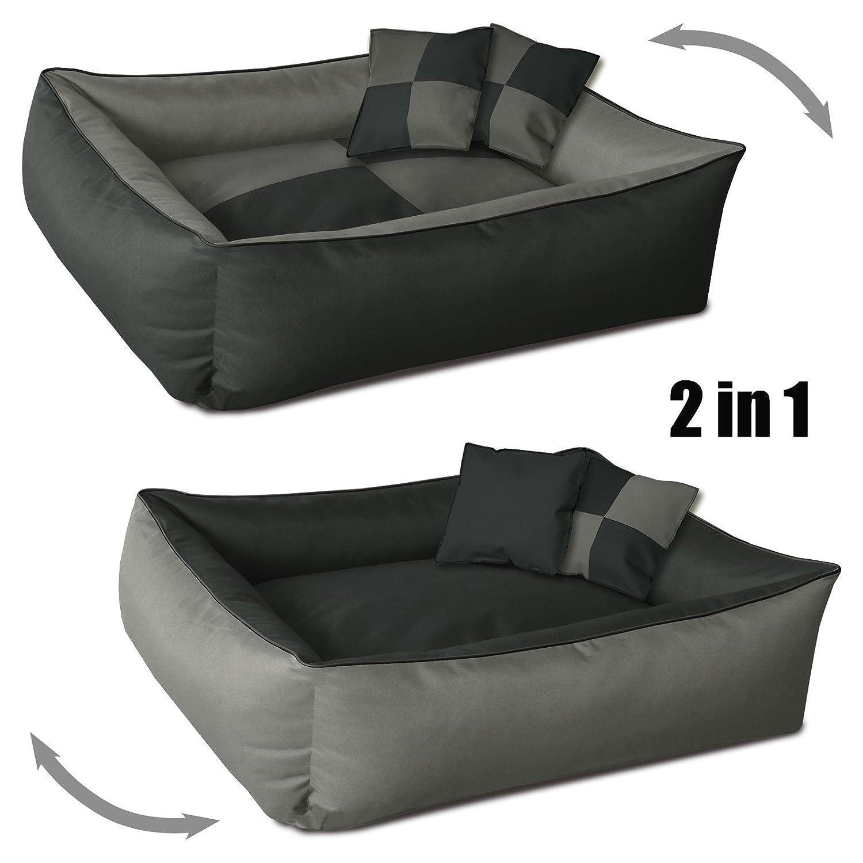 BedDog 2 en 1 colchón para Perro MAX Quattro XXXL Aprox. 150x110 cm, 8 Colores, Cama para Perro, sofá para Perro, Cesta para Perro, Antracita/Gris: ...