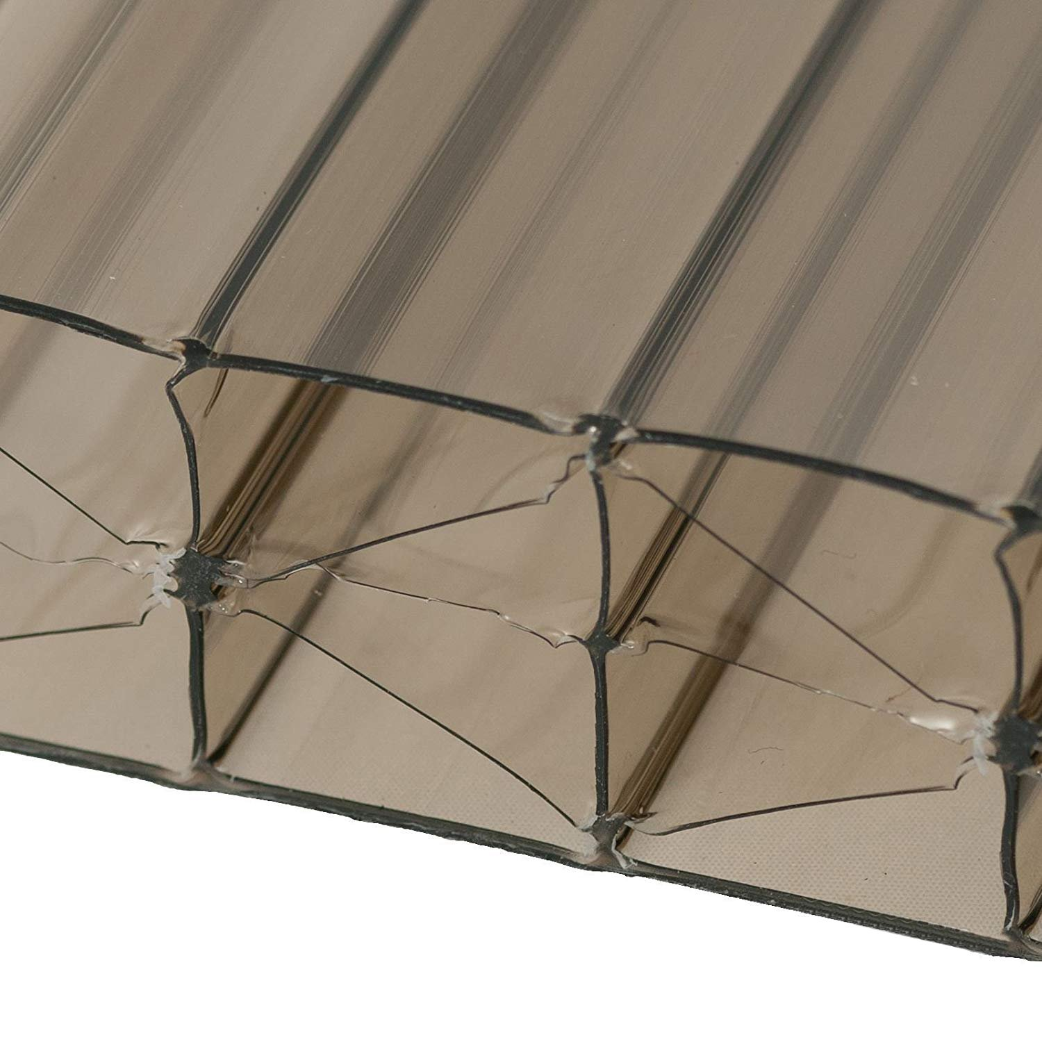 1m x 3m (width x length) Bronze, 1 x 3m (Width x Length) 35mm Multiwall Polycarbonate Sheets Poly Plastic Roof Panel for Lean-to Canopy Conservatory