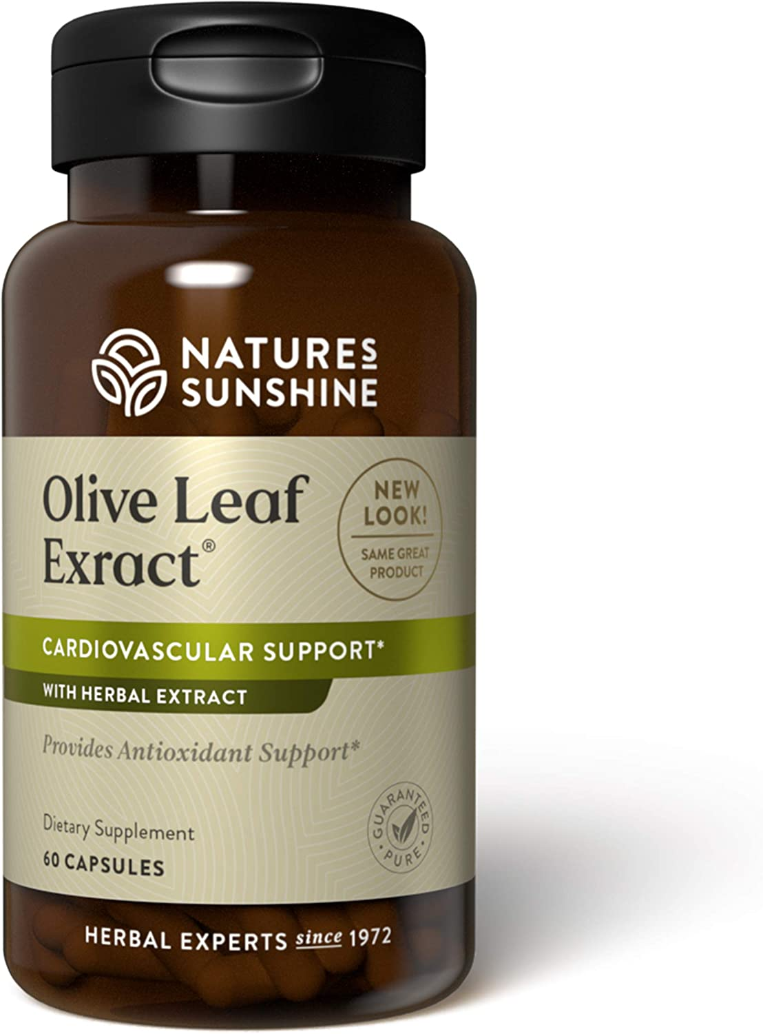 Nature's Sunshine Olive Leaf Extract Concentrate 60 Capsules