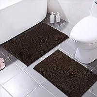 Mayshine 2 Piece 20x31 inch Non-Slip Bathroom Rug Shag Shower Mat Machine-Washable Bath mats with Water Absorbent Soft…