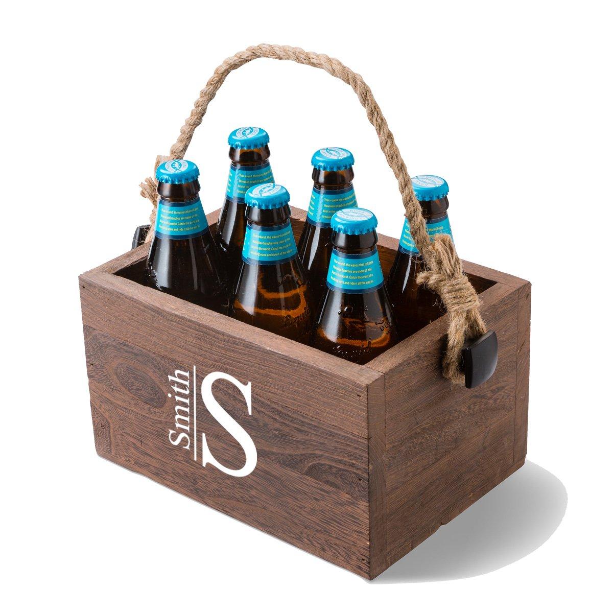 Monogrammed Beer Caddy - Modern