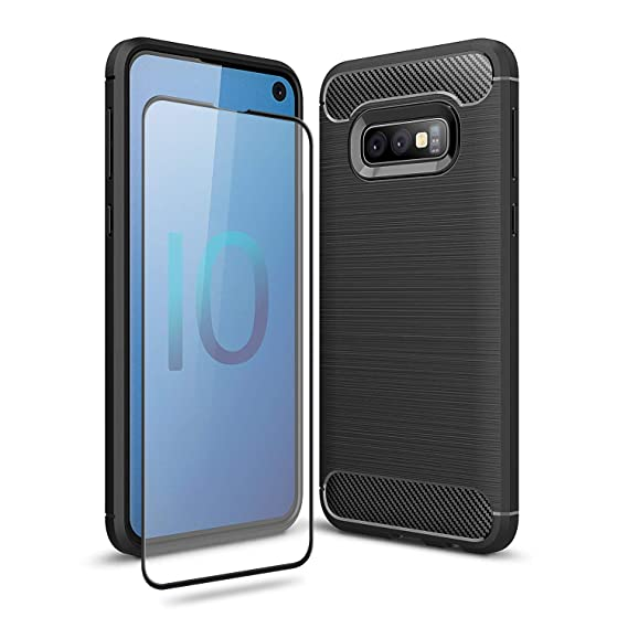 Olixar For Samsung Galaxy S10e Case With Screen Protector   360 Protection/Front + Back   Full Body Cover   9 H Tempered Glass   Sentinel   Black by Olixar