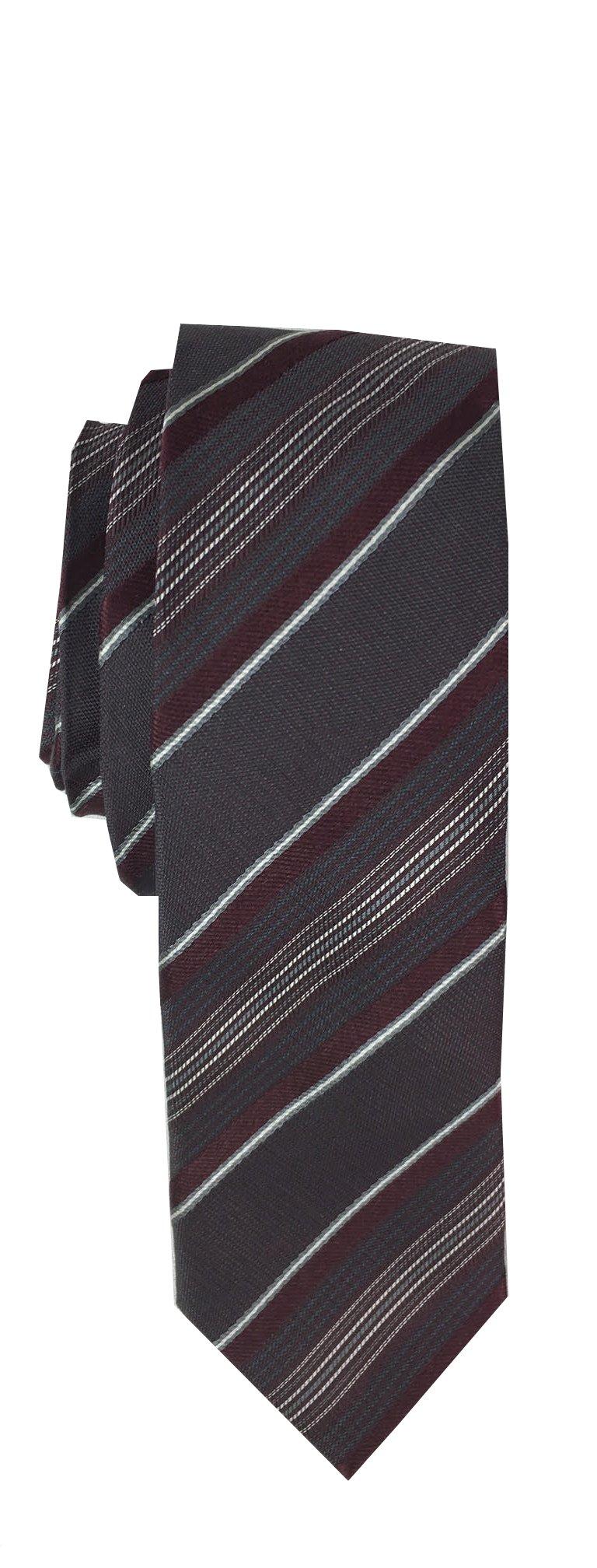 Bar III Men's Skinny Silk Tie (One Size, Black Stripe)