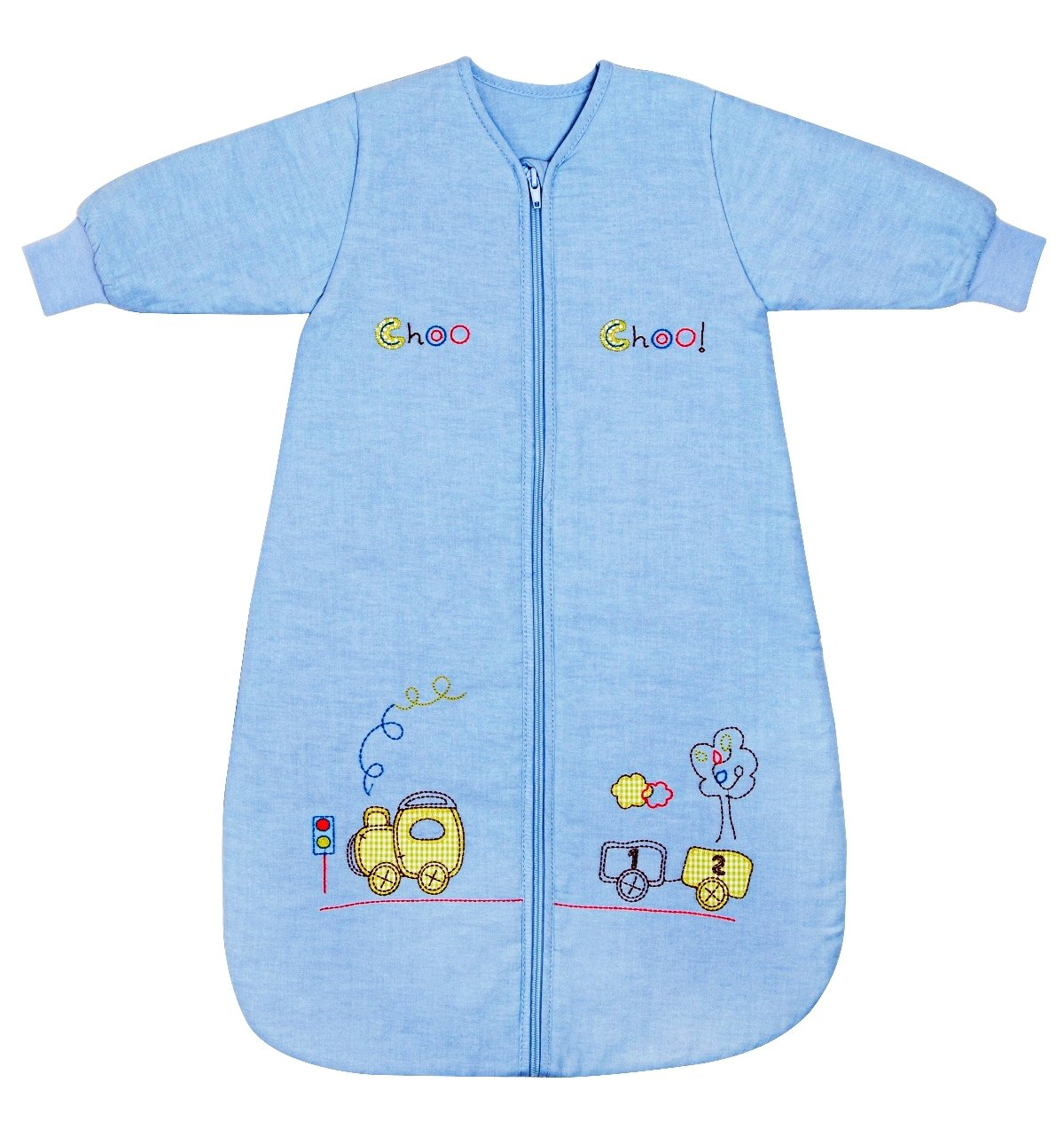 Slumbersafe Baby Sleeping Bag Long Sleeves 2.5 Tog - Choo Choo, 0-6 months/SMALL