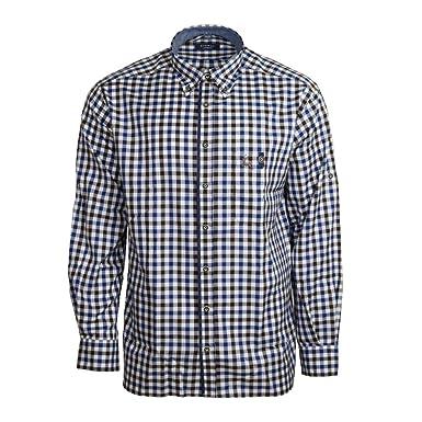 2556dc67e274ed eterna Herren Hemd Langarm Comfort Fit Blau Braun karo Businesshemd  Freizeithemd Freizeit Business Hemd Hemden  Amazon.de  Bekleidung