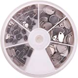 PandaHall Elite 120pcs 304 Stainless Steel Blank Stamping Tag Pendants Sets for Bracelet Earring Pendant Charms