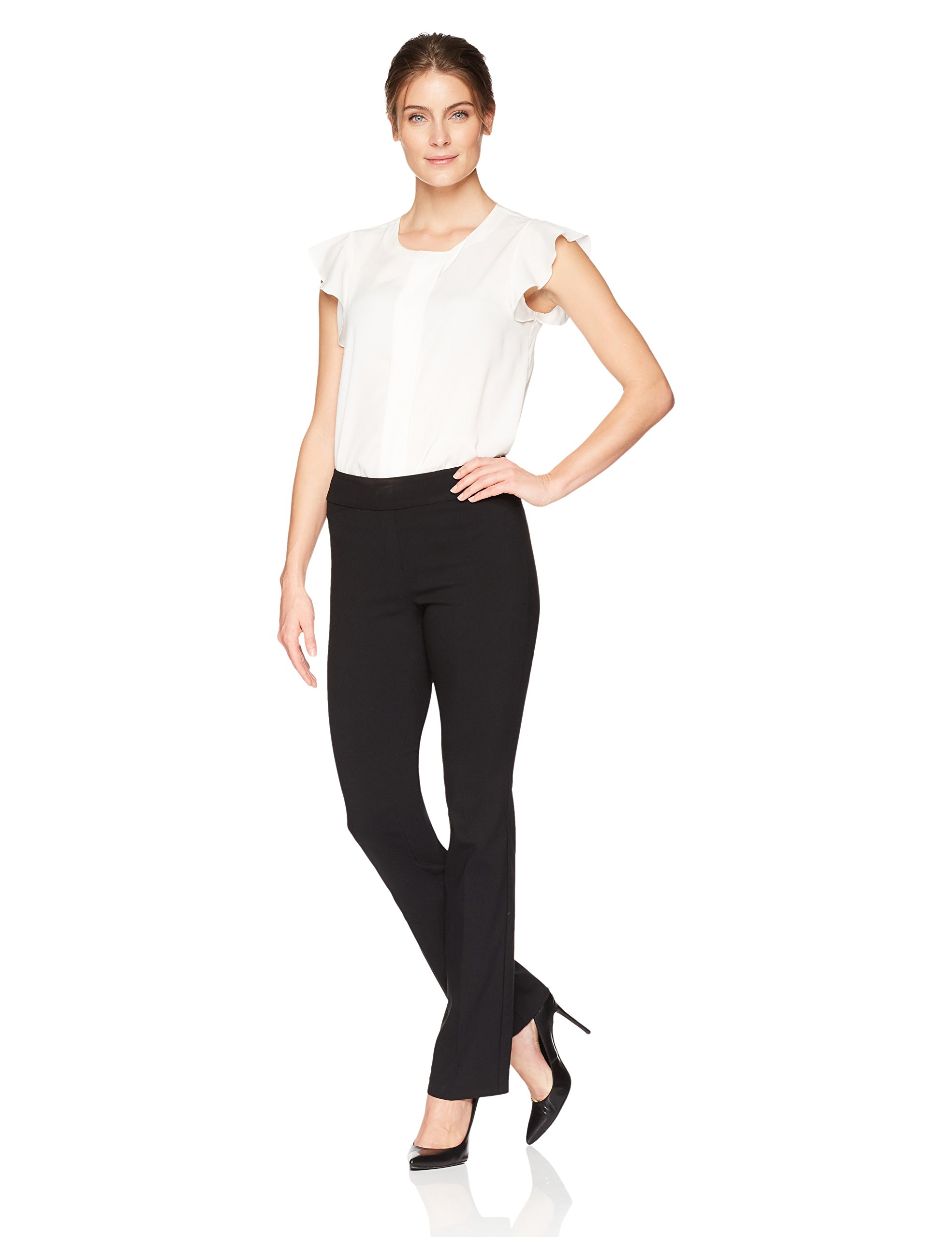 Lark & Ro Women's Barely Bootcut Stretch Pant: Comfort Fit, Black, 16 by Lark & Ro (Image #2)