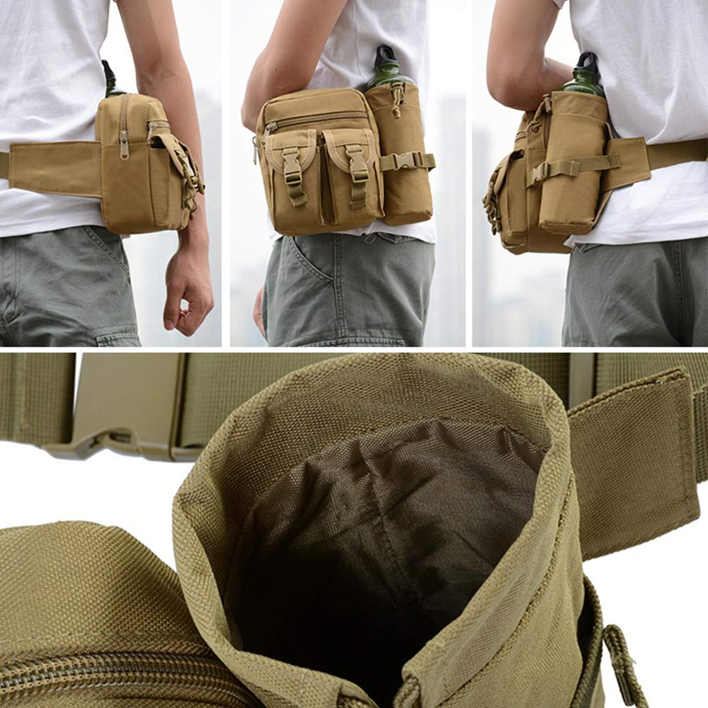 Hiking Waist Bag Fanny Pack with Water Bottle Holder for Men Women Running /& Dog Walking Can Hold iPhone8 Plus Screen Size 6.5inch