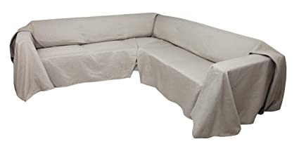 Amazoncom Floppy Ears Design Easy Care Linen Look Sectional Sofa