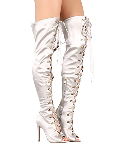 Fashion Womens Ladies Patchwork Thigh-High Boots Shoes Sexy Over The Knee Boots B810 Stiletto HeelSize Customized cheap clearance store CDS8tT