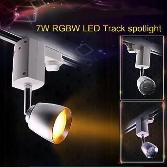 LIGHTEU, 7W WiFi LED 4-Draht RGBW Schienen-Scheinwerfer, Wifi ...