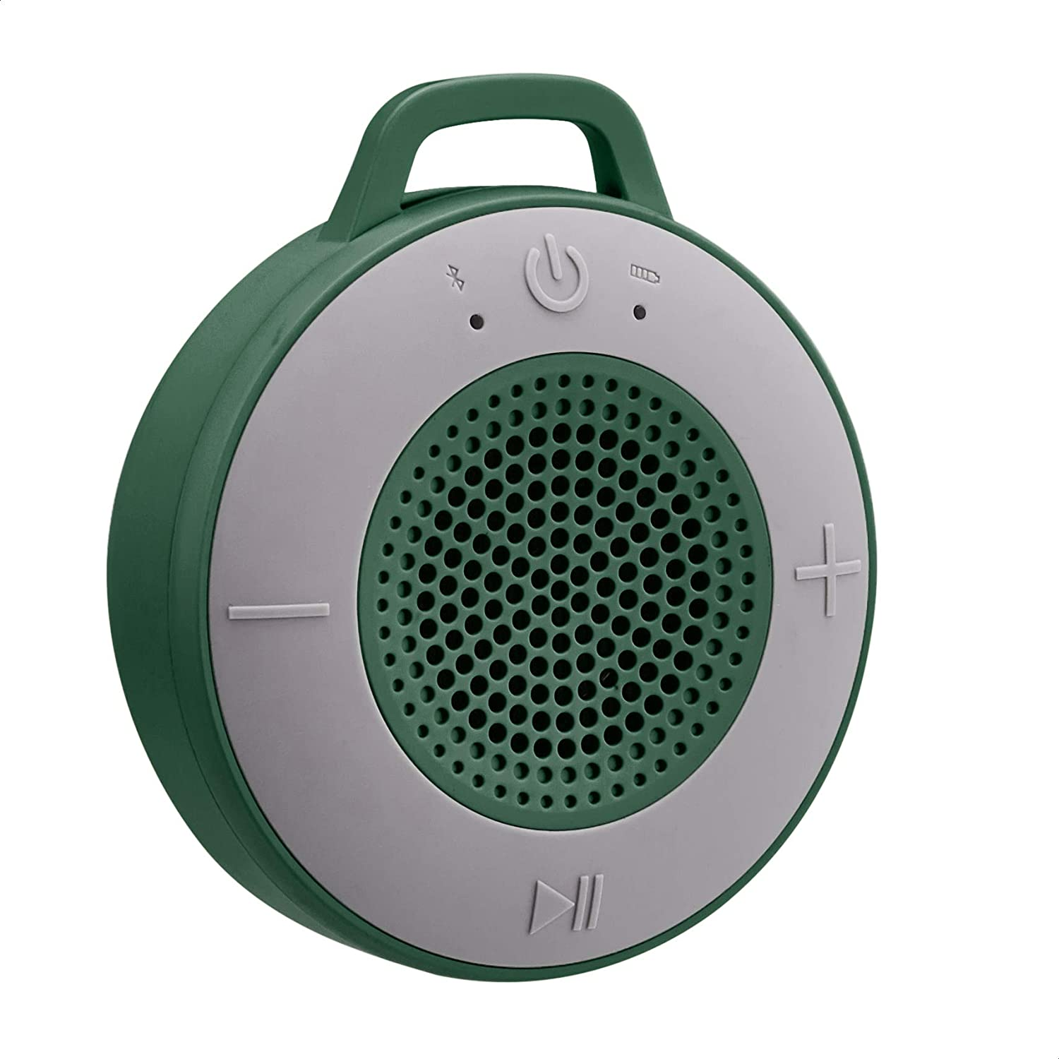 Amazon Basics Wireless Shower Speaker with 5W Driver, Suction Cup, Built-in Mic - Green