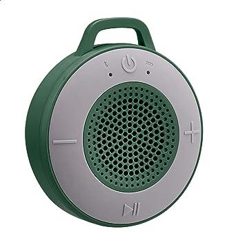 Amazon Basics Kabelloser Dusch Lautsprecher Mit 5 W Treiber Saugnapf Eingebautem Mikrofon Grün Audio Hifi