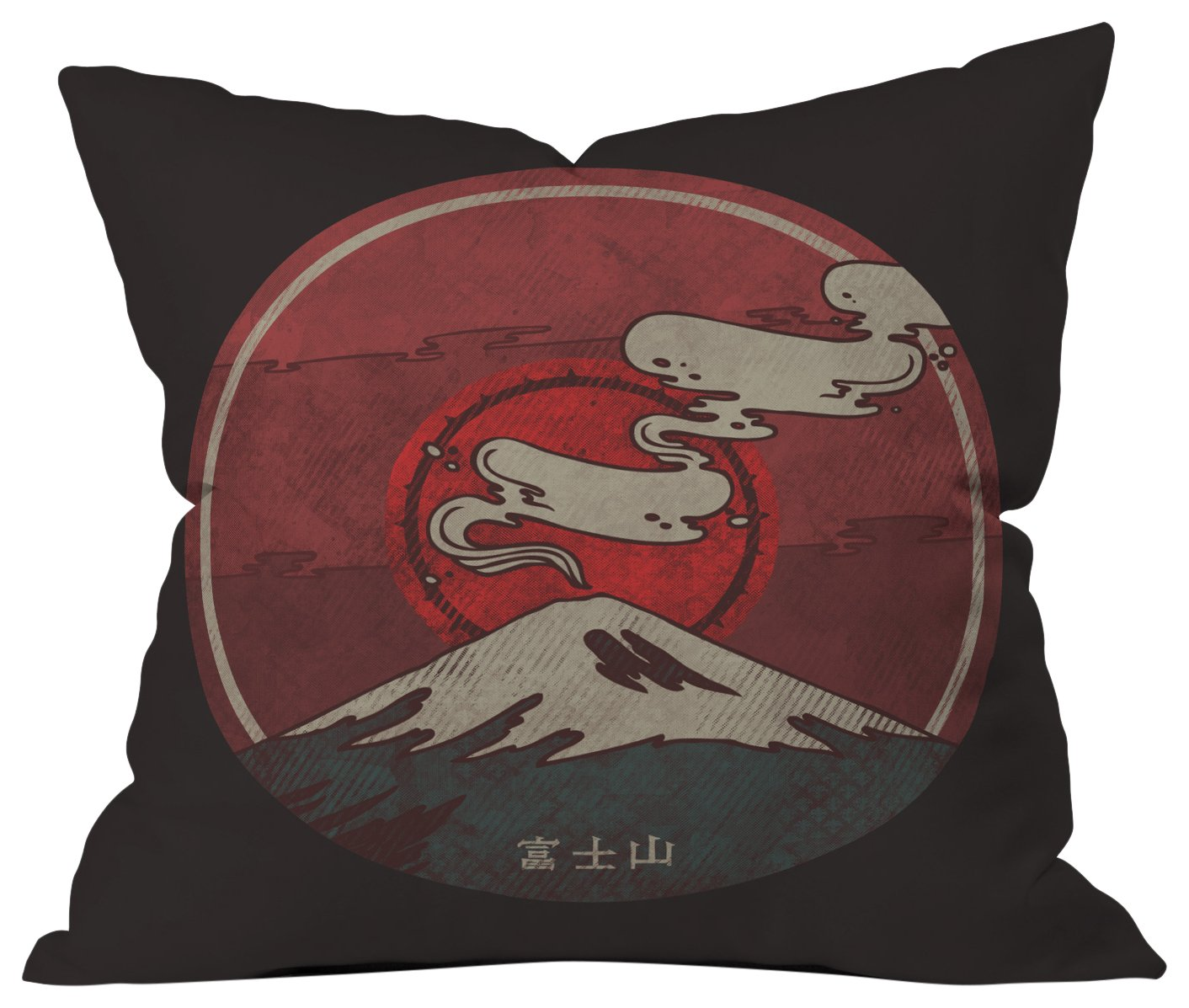 Deny Designs Hector Mansilla Mt Fuji Throw pillow 18 X 18