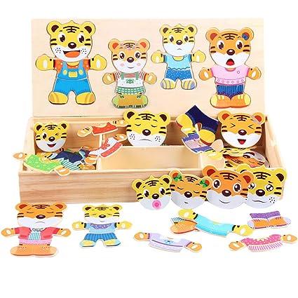 Amazon.com: CLARA Juego de 72 piezas de oso de madera para ...