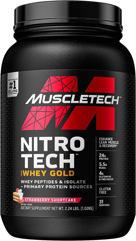 Muscletech Performance Series Nitro Tech 100% Whey Gold Strawberry - 1134 gr