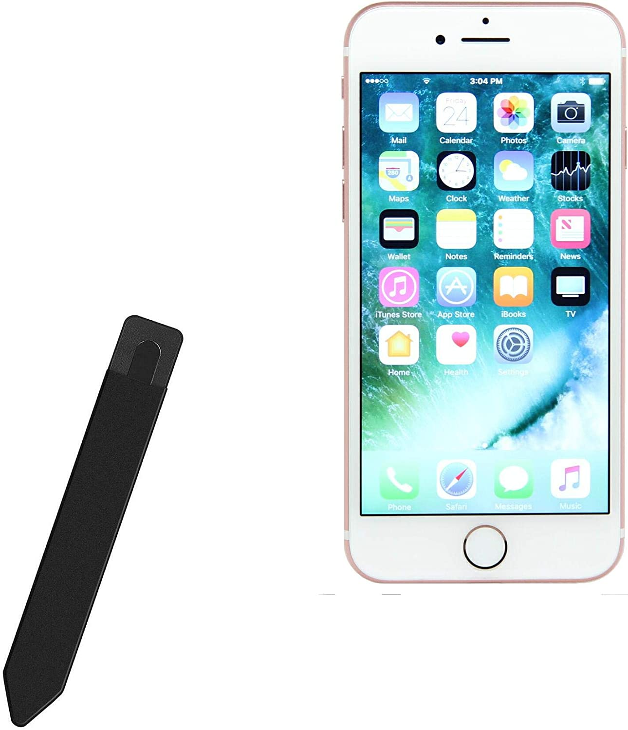 BoxWave Smart Gadget for Apple iPhone 7 [Stylus PortaPouch] Stylus Holder Carrier Portable Self-Adhesive for Apple iPhone 7 - Jet Black