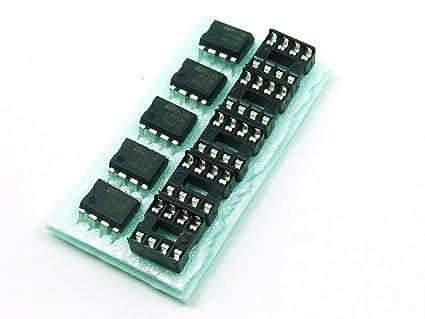 POPESQ® - Piezas/Pcs. 5 x LM 358 con/with DIP8 Amplificador