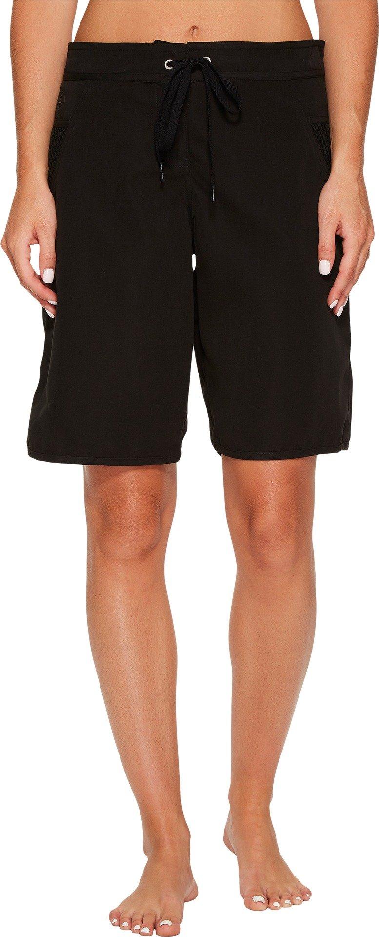 Seafolly Women's High Water Boardshorts Black Swimsuit Bottoms