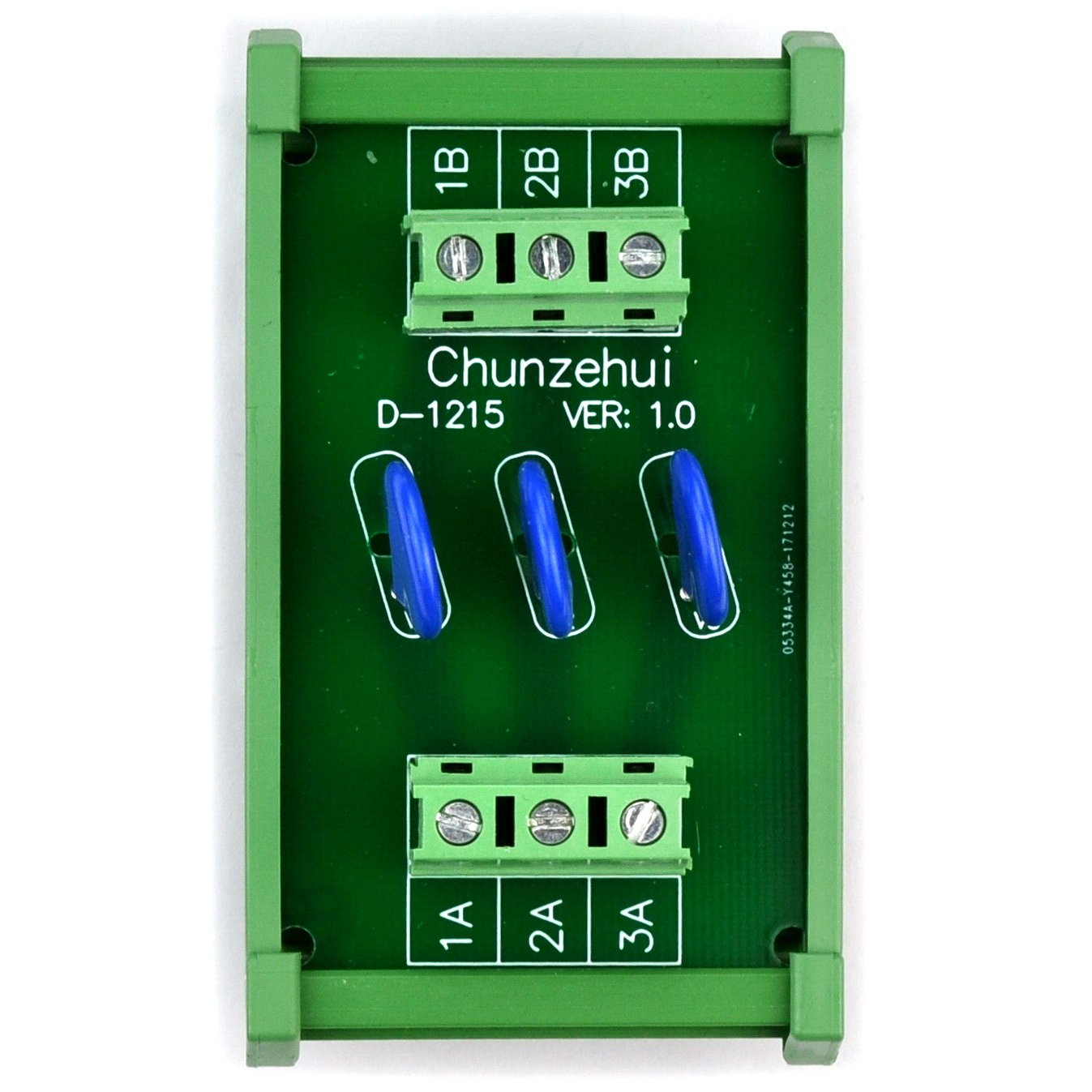 Chunzehui 3 Channels Individual DIN Rail Mount 30V SIOV Metal Oxide Varistor Interface Module Surge Suppressor Protection SPD Board.