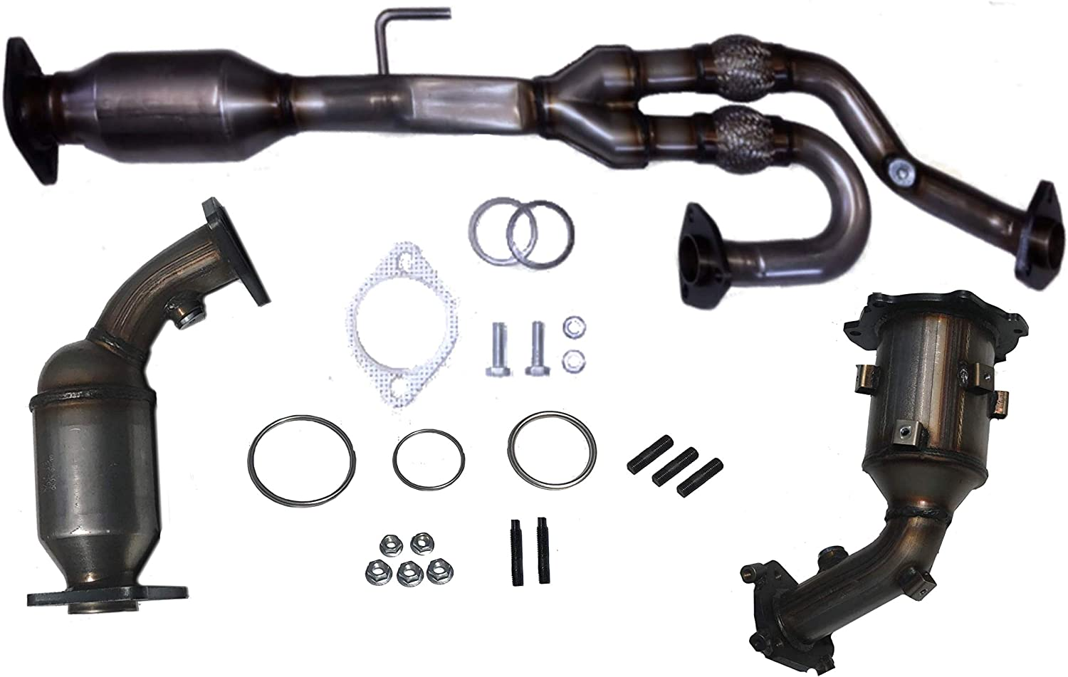 Fits Nissan QUEST 3.5L ALL THREE Catalytic Converters 2005-2006 /& All Hardware