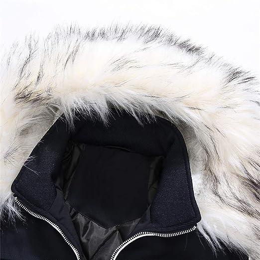Hombre Abrigo de invierno Mezcla de algodón LILICAT❤ Abrigo medio largo Chaqueta con capucha: Amazon.es: Hogar