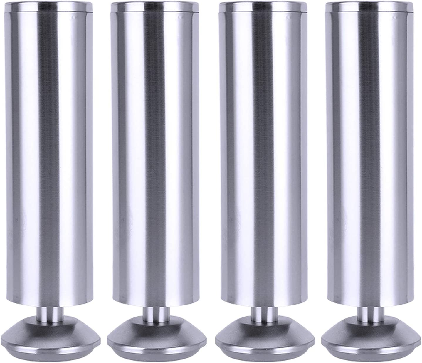 SAVORLIVING Furniture Riser (Pack of 4) Stainless Steel Table Riser Heavy Duty Detachable Sofa Table Desk Lifts Great for Under Storage (XXL)