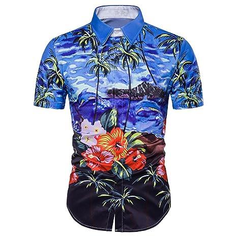 Ofertas, Deals, - Camiseta para Hombre ronamick Hawaiian Camisa ...
