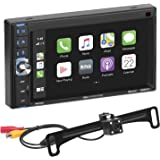 BOSS Audio Systems BCP62-RC Apple CarPlay Car Multimedia Player - Double Din, 6.2 Inch Capacitive Touchscreen, Bluetooth, USB
