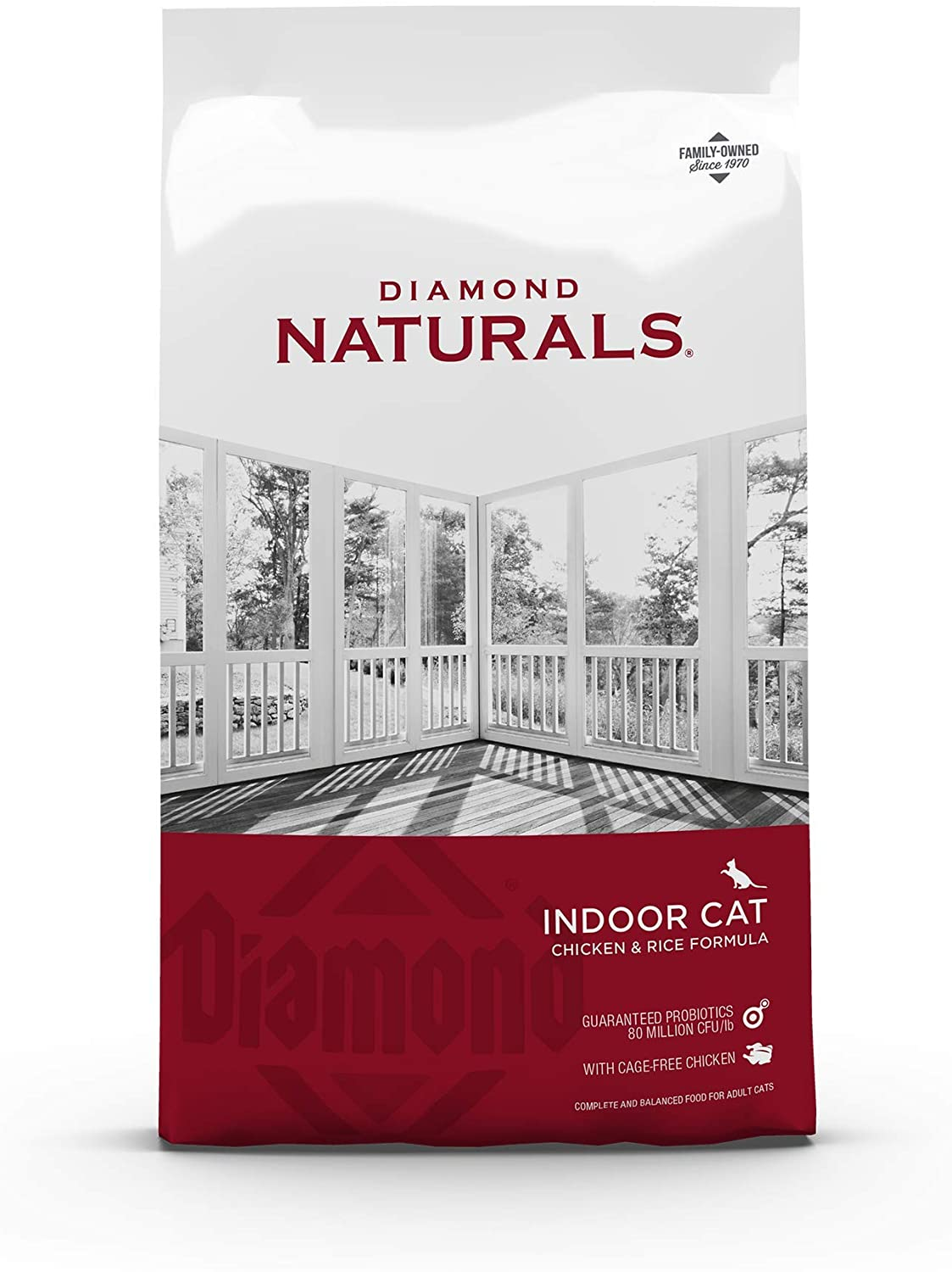 Diamond Naturals Premium Real Meat Recipe Dry Indoor Cat Food with Protein from Cage-Free Chicken, Antioxidants, Probiotics to Support Healthy Immune and Digestive Systems 6lb
