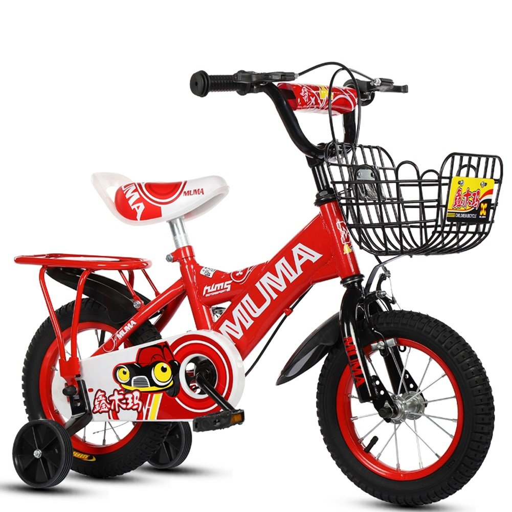 買得 CHS@ 子供の自転車2-4-6歳の6-7-8歳の子供の自転車ベビーキャリッジの少年少女自転車のトレーニングホイール 子ども用自転車 18