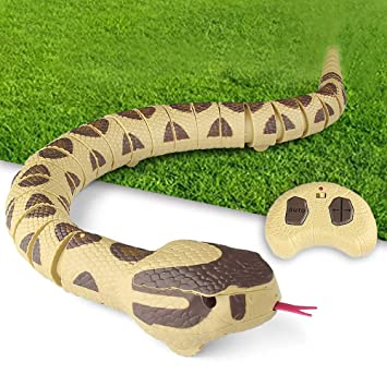 Reasoncool Realistic RC Snake Toy Long Rechargeable Remote
