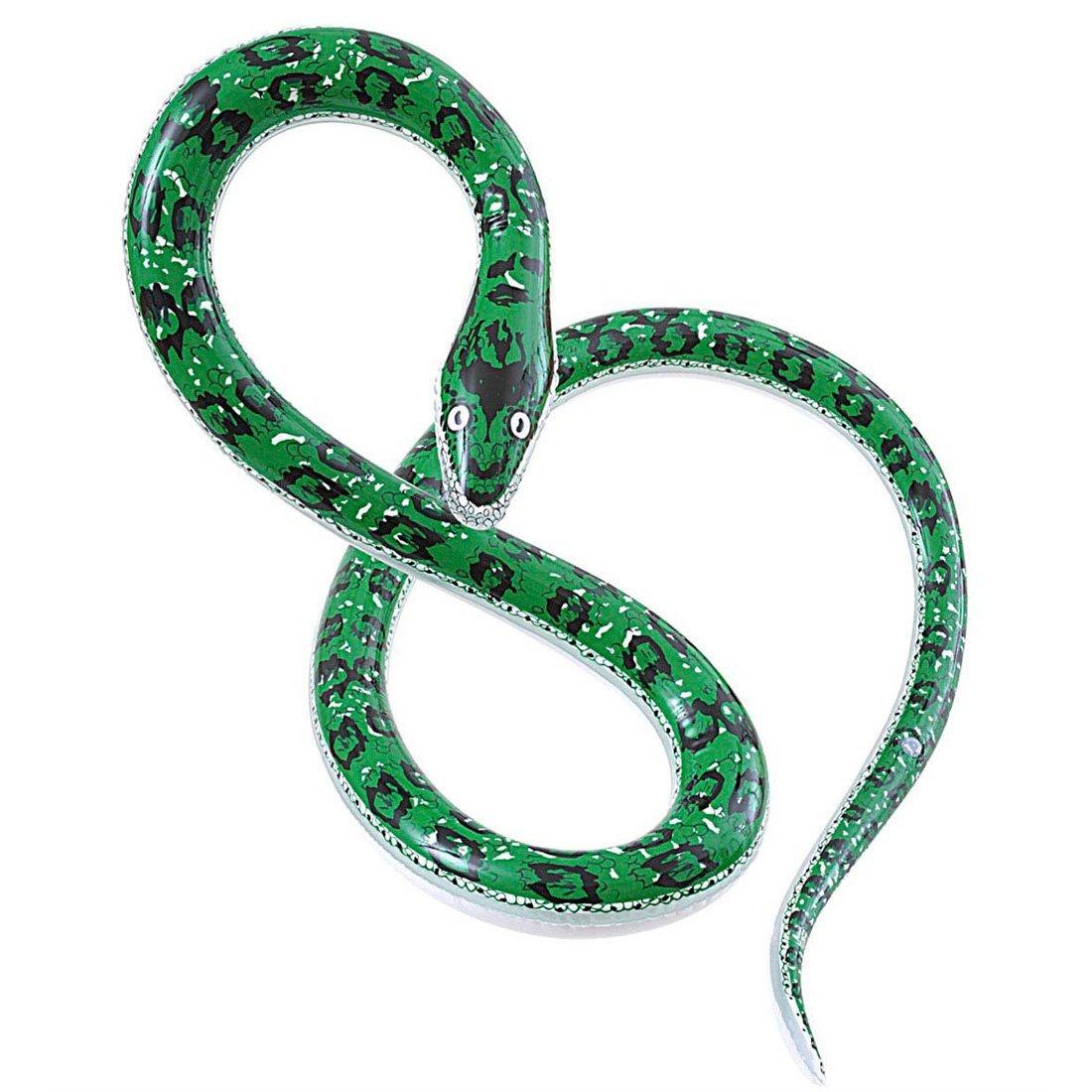 NET TOYS Serpent déco serpent géant gonflable serpent en caoutchouc soirée de plage gonflable serpent de déco Halloween soirée à thème python accessoires déco intérieur