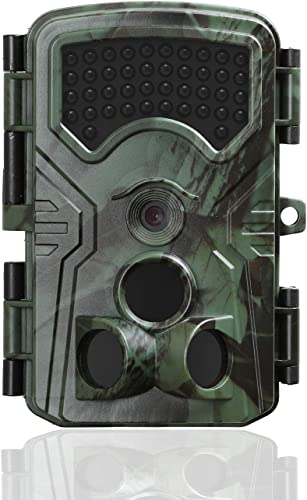 GordVE Trail Game Camera with Night Vision,Dual PIR 13MP 1080P Waterproof Hunting Scouting Camera for Wildlife Monitoring 2.4 LCD IR LEDs,0.2s Trigger Time Motion Activated