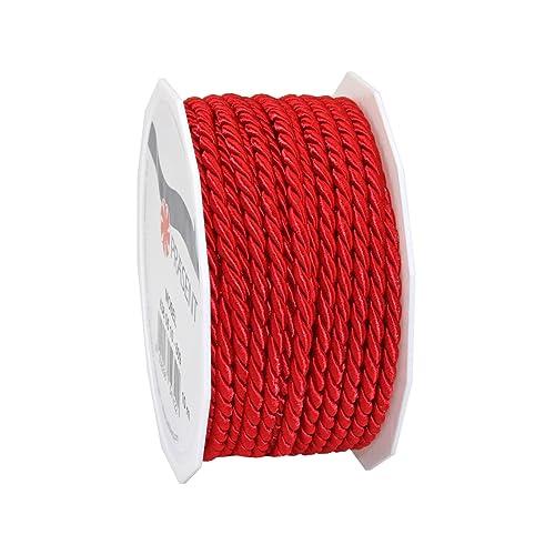 Präsent C.E. 5 mm - 10 m Pattberg Ribbon Mosel Cord, Red