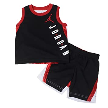 d5bebd2ee8e0 Image Unavailable. Image not available for. Color: Nike Air Jordan Jumpman Baby  Tank-Top & Short ...
