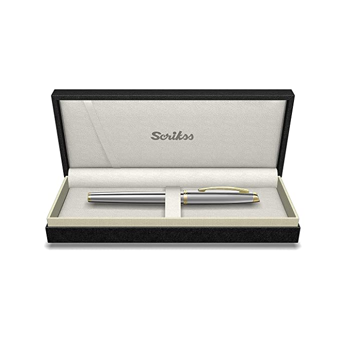 Scrikss 39 Oscar Fountain Pen 66697 Gold Chrome
