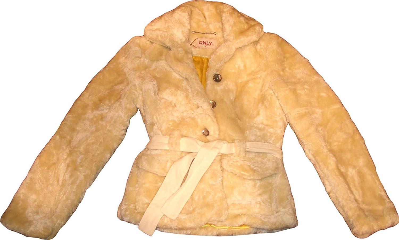 Only Fur Retro Jacket. Elegante Mujer Chaqueta Con Forro Interior. Medium