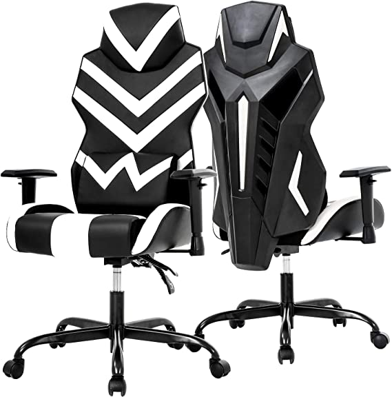 PC Gaming Chair Ergonomic Office Chair Desk Chair High Back Racing Computer Chair with Lumbar Support Adjustable Arms Headrest Task Executive Swivel Rolling Chair for Adults Girls