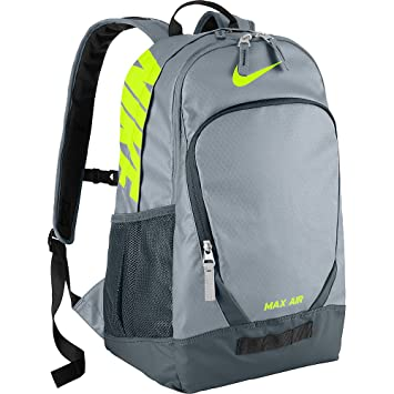 ... replica 93028 56eaa Amazon.com Nike Team Training Max Air Backpack  GreyVolt ... c73e1de43ebbb