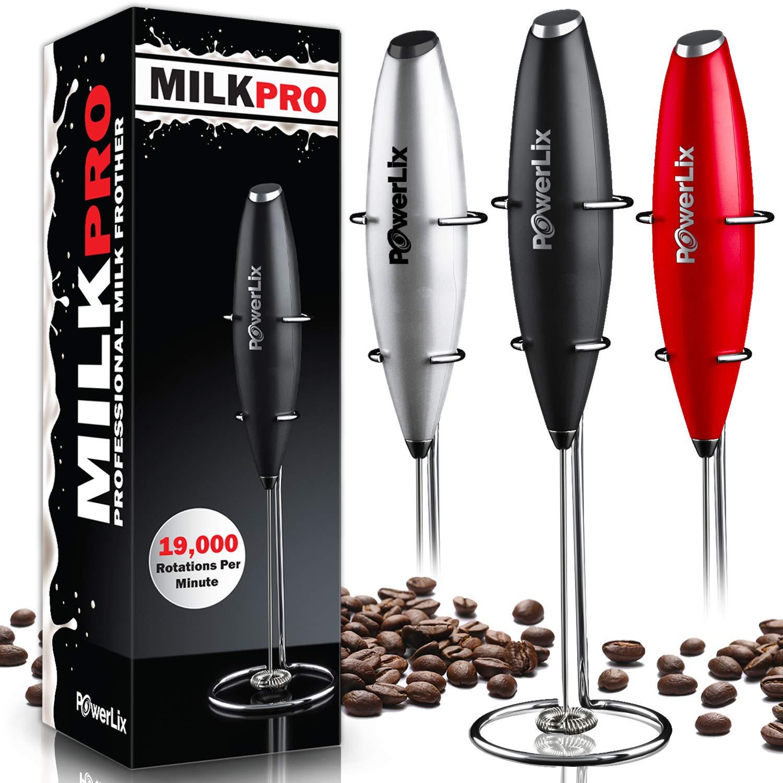 Amazon.com: Espumador de leche PowerLix, Negro: Kitchen & Dining