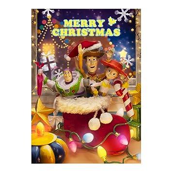 disney pixar toy story christmas 3d lenticular greeting card disney 3d postcard - Toy Story Christmas Special