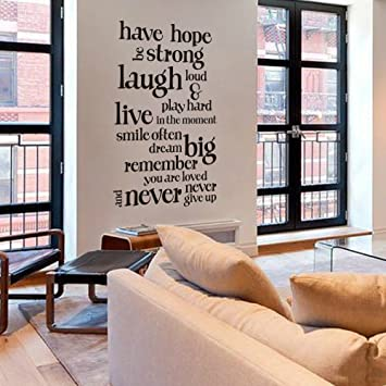 Amazon.com: Have Hope Never Give Up Wall Decal Life ...