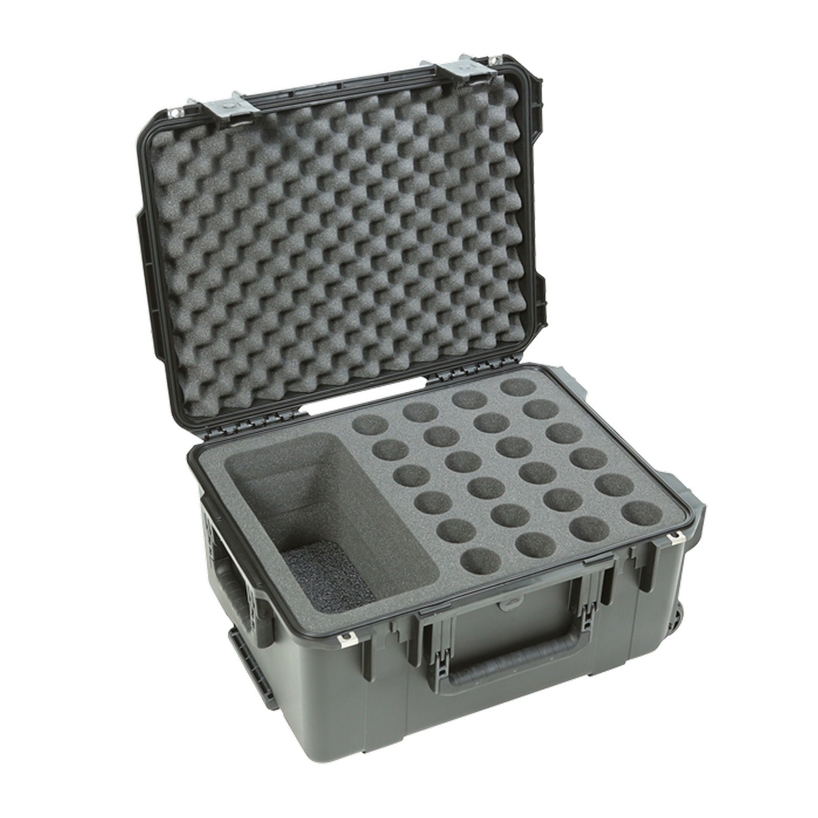 SKB 3i-2015-MC24 | Injection Molded Wheel Case for 24 Microphones