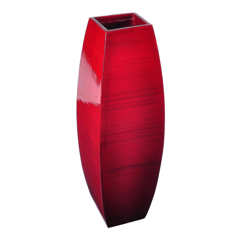 Lerman D/écor SBV11 Bamboo Vase Red