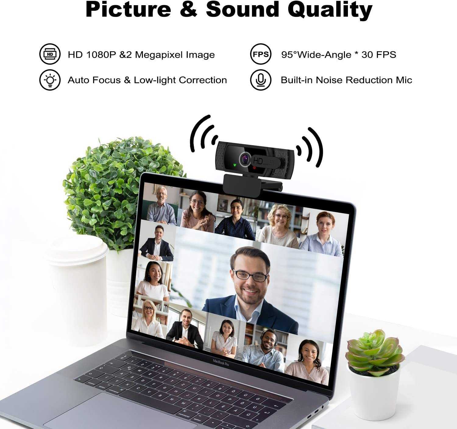 Plug /& Play Windows for Mac OS LucaSng Desktop Laptop Computer Webcam with USB /& Built in Noise Reduction Microphone 360/° Rotation 1080P HD Webcam with Privacy Cover /& Tripod