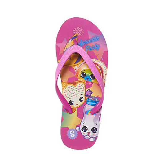 3836bfb7c8e7 Shopkins Girls Girls Flip Flops with Sparkling Jelly Straps Fuschia 2 3 US  Little Kid