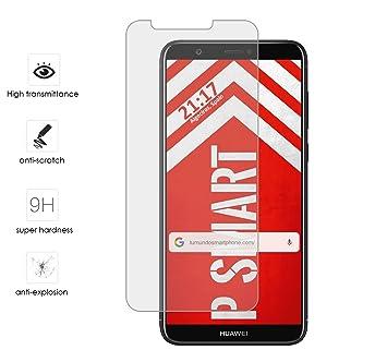Tumundosmartphone Protector Cristal Templado para Huawei P Smart Vidrio